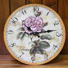 Pendule décoration de charme - horloge ronde déco murale - pendule decoration ancienne