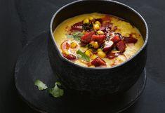 Maissuppe mit Cabanossi