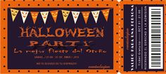 Habéis sido muchas las que queríais unas Invitaciones bonitisimas para Halloween, y lo prometido es deuda!!! Aquí teneis vuestro imprimible gratis, para invitaciones de Una Fiesta de Halloween, tip...