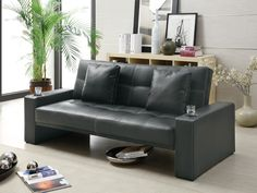 Item Description Decor your home in casual style with this convenient sofa sleeper. Created with a casual style that focuses on modern and contemporary design, this futon like sleeper sofa will bring a fun and inviting aura to your family room, living room, apartment or loft. Particular