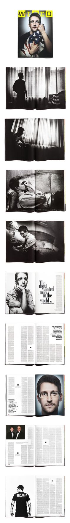 WIRED 22.09 Edward Snowden: The Most Wanted Man in the World | Editor in Chief: Scott Dadich | Creative Director: Billy Sorrentino | Director of Photography: Patrick Witty | Photographer: Platon