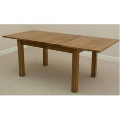 Rushmere Rustic Solid Oak x Extending Dining Table Small Square Dining Table, Farmhouse Round Dining Table, Dining Table With Leaf, Wooden Table And Chairs, Dining Table Legs, Glass Dining Table, Dining Table Design, Dining Table In Kitchen, Rustic Kitchen Table Sets