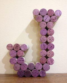 Wine Cork Monogram Letter J by CelebratebyAmanda on Etsy