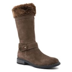 Brown Suede Girls Boots