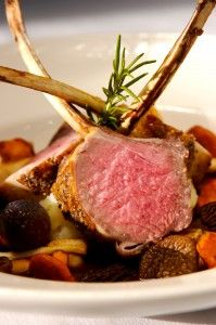 Lavender and Pistachio Encrusted Rack of Lamb