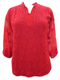 Indo-boho Floral Embroidered Red Blouse Top for Womans Small Size Mogul Interior http://www.amazon.com/dp/B00NOLQ6BO/ref=cm_sw_r_pi_dp_Qwniub1BV4PRQ
