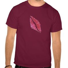 Real lipsstick kiss t shirts