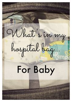 What's In My Hospital Bag? For Baby... - Lamb & Bear
