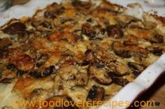 Kitchen Diaries Challenge Potato and Mushroom Gratin Veg Dishes, Vegetable Dishes, Tasty Dishes, Food Dishes, Side Dishes, Vegetable Bake, Braai Recipes, Veggie Recipes, Cooking Recipes