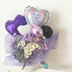 JUST MARRIED Daisy table top type - Chubby Balloon フリンジバルーンとおしゃれなバルーン電報のことならチャビーバルーン 大阪北堀江