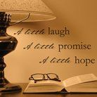 Wall Appliqué - Little Laugh Promise Hope