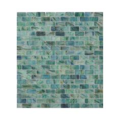 American Olean Visionaire Peaceful Sea Glass Mosaic Subway Indoor/Outdoor Wall…