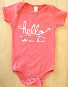 Hello, I'm new here onesie for baby girl