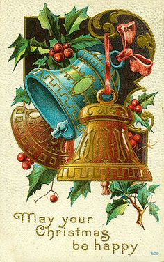 May Your Christmas Be Happy. Chromolithograph postcard, 1910. Missouri History Museum Photographs and Prints collections. Postcards. n39424.