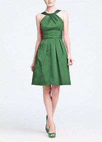 This short cotton dress is flattering and comfortable.  The Y neck detail adds interest while the skirt pleating and sleeveless silhouette keep the look young.  Wear again with heels or with casual sandals.  Versatile�style that can be worn for many seasons.  Fully lined. Back zip. Dry clean only.  Get inspired by our colors..   To protect your dress, try our Non Woven Garment Bag.