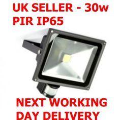 LED Security Light 30 W White Floodlight PIR Sensor Motion Garden Lamp for sale online Garden Lamps, The Outsiders, Led, Ebay