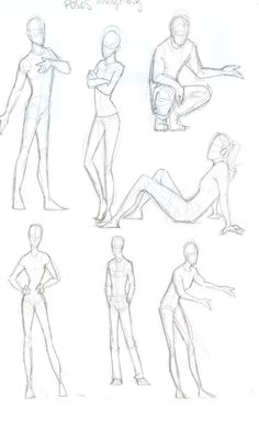 How to draw poses disney like style