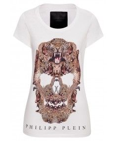 Philipp Plein - 'Roaring' T-Shirt White #fashion #designer #boudi