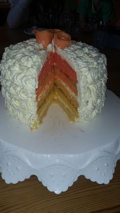 Ombrecake Cake, Desserts, Food, Homemade, Pies, Pie Cake, Meal, Cakes, Deserts