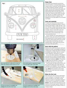 #2006 VW Camper - Intarsia Projects - Intarsia Scroll Saw