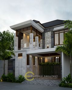 modern railing balcony design for home Bungalow House Design, House Front Design, Modern House Design, New House Plans, Modern House Plans, Modern Architecture House, Architecture Design, Bali House, House Design Pictures
