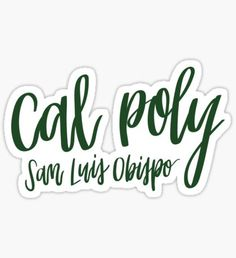 Cal Poly Full Length Dark Green Apron Calpoly w// Mustang