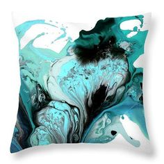 Pure Emotion - Throw Pillow Teal Artwork, Easy Gifts, Fine Art Paper, Wrapped Canvas, Fine Art Prints, Throw Pillows, Pure Products, Abstract, Artist