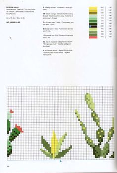 Embroidery Thread, Cross Stitch Embroidery, Cross Stitch Patterns, Beaded Cross Stitch, Cross Stitch Flowers, Cactus, Cross Stitching, Sewing, Handmade