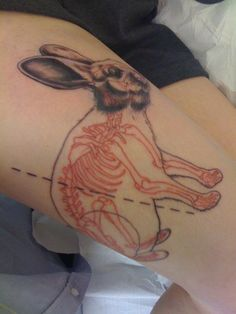 skeleton bunny tattoo. #tattoo #ink