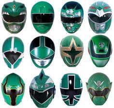 Green Ranger Helmets - MMPR onwards