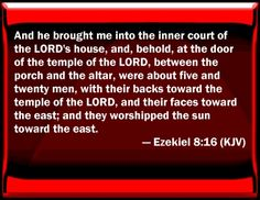 Bible Verse Powerpoint Slides for Ezekiel 8:16