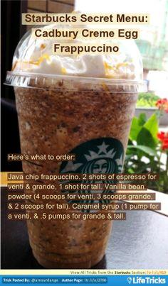 Starbucks - Starbucks Secret Menu: Cadbury Creme Egg Frappuccino