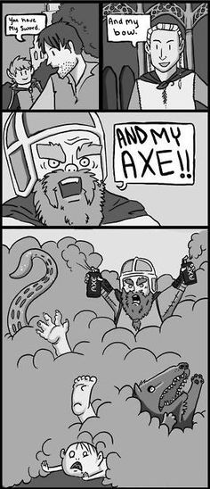 Alternate Lord of the Rings. Gimli's Axe . . .