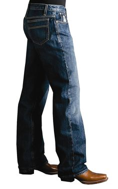 Cinch® White Label Dark Stonewash Relaxed Fit Jeans - MB92834013 | Cavender's Boot City