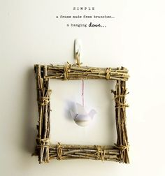 -For the door at Christmas 22 Project Ideas for Crafting With Twigs and Branches