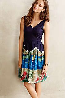 Anthropologie - Handpainted Island Dress