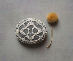 Crocheted Lace Stone
