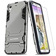 COVRWARE® HTC Desire 626 / 626s (Slim Series) Armor Protective Case (Kickstand) (Slim Fit) (Screen Protector) (MetroPCS/Verizon/ATandT) - Gray (CW-D626-SL10) -- Find out more about the great product at the image link. (This is an affiliate link and I receive a commission for the sales)