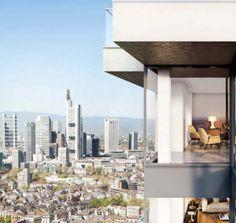 """Wohnprojekt """"Henninger Turm"""" fast abverkauft - So könnte Ihre Aussicht sein: vom Wintergarten einer Eigentumswohnung im Henninger Turm. Foto: Actris"""