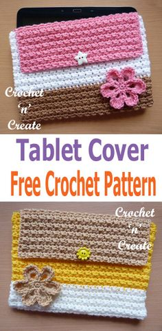 Keep your tablet safe from scratches with this crochet tablet cover, make sure yours is unique and stands out from the crowd by crocheting in your ......