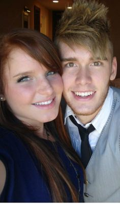 I love how his eyes are the same exact color as his hair (:
