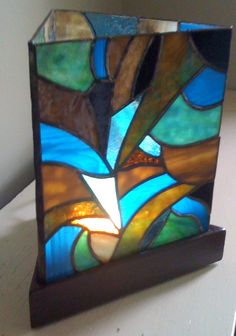 Abstract Stained Glass Lamp