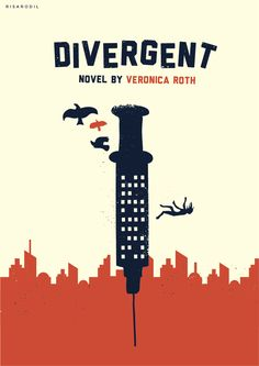 Divergent Another with the syringe, this time with a vintage letterpress style with distressing and simple minimalist silhouettes