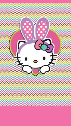 EASTER HELLO KITTY IPHONE WALLPAPER BACKGROUND