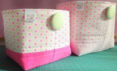cestos / fabric baskets www.chadebaunilha.com