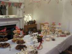 Buffet style afternoon tea at clients own home