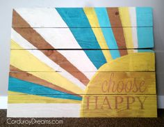 How to Make a Pallet Sign CorduroyDreams.com