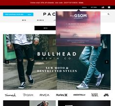 PacSun email sign up form  July 2015