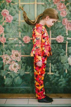 Aristocrat Kids. Little girl in flower suit!