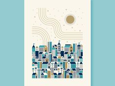 Holiday Card (Global Village) by Matt Carlson #Design Popular #Dribbble #shots